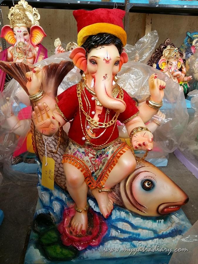 Koli Ganesha idol, Ganesh Chaturthi, Mumbai