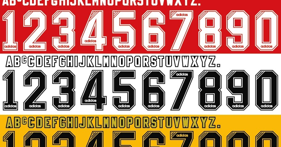 FONT FOOTBALL: Font Vector Liverpool 1994 1995 1996 Kit