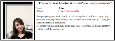 testimoni-kerupuk-keripik-pisang-lina-bloglazir.blogspot.co.id