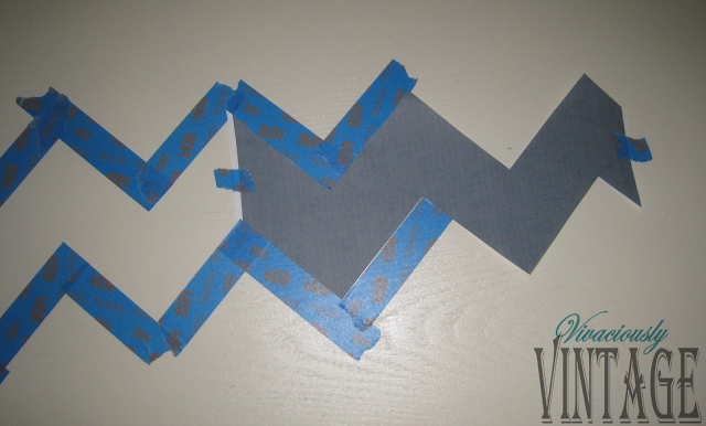 Ansley designs how to paint chevron stripes for Chevron template for painting