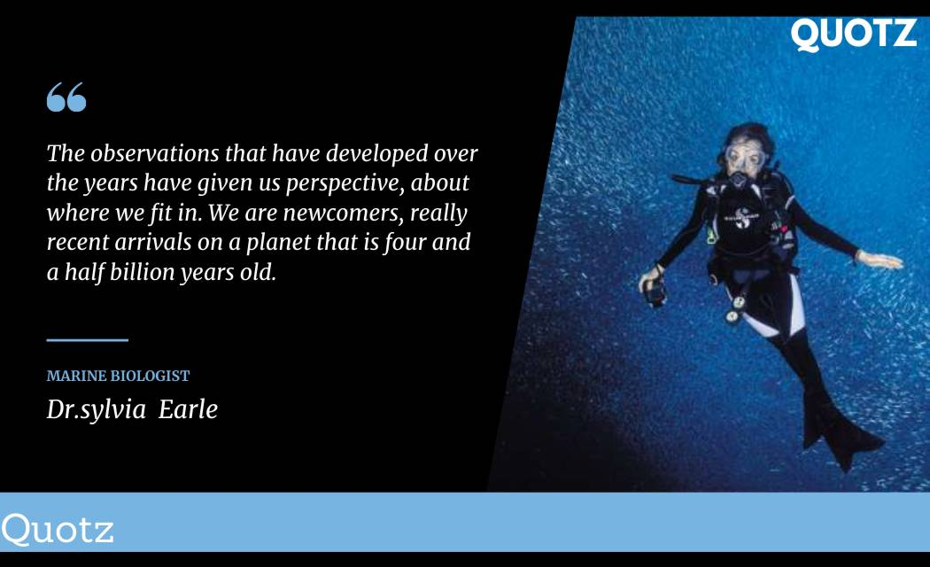 Quotes by Dr.sylvia Earle about ocean, plastic, environment, earth, a scientist with quotes images.