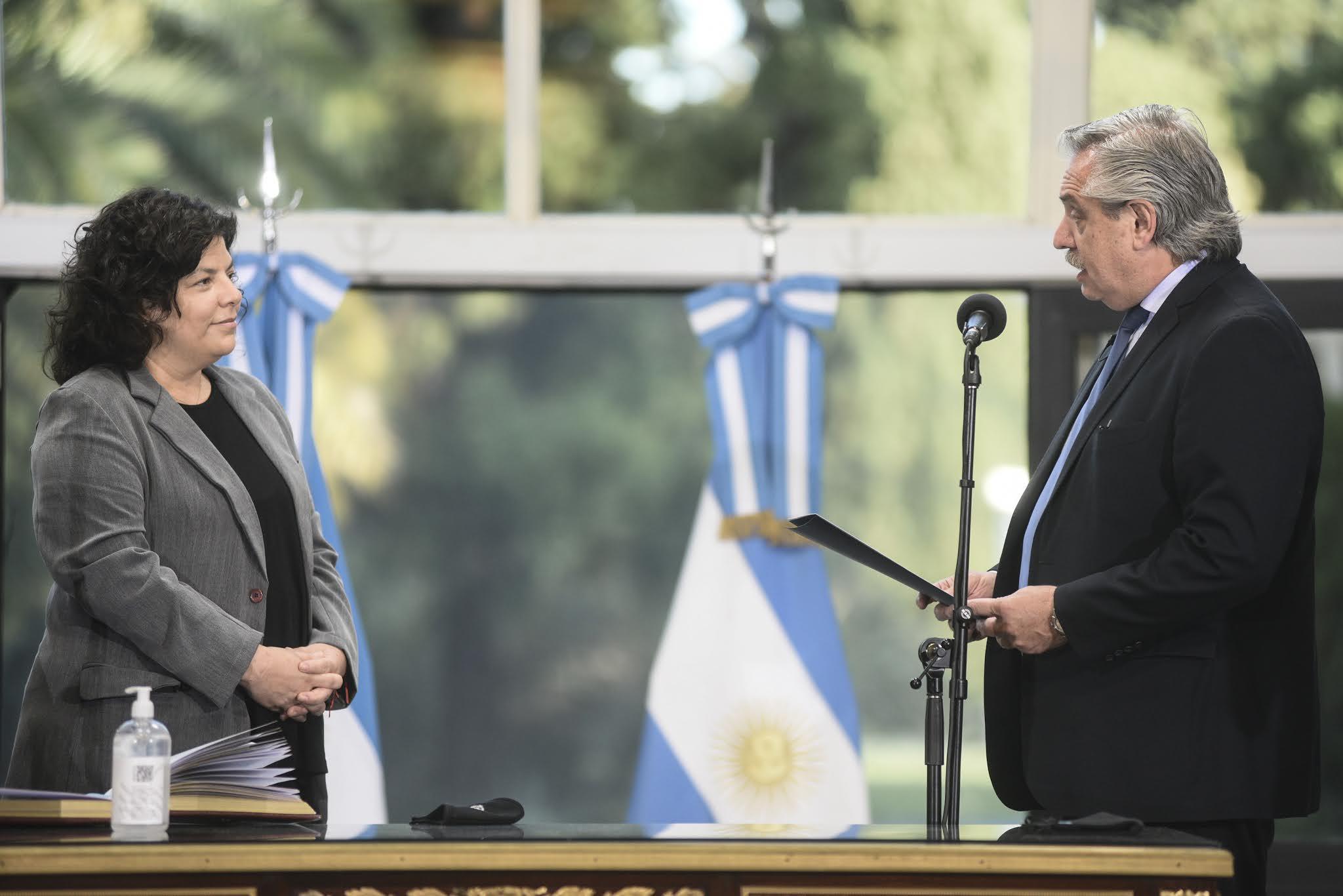 Carla Vizzotti asumió como nueva ministra de Salud en reemplazo de Ginés González García