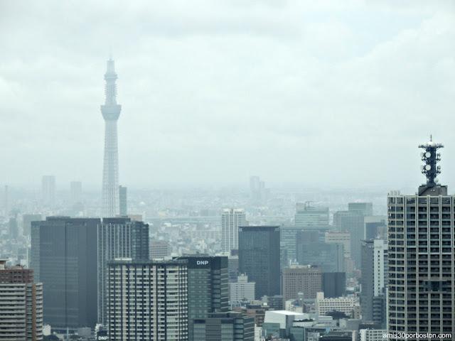 Tokyo Skytree desde el Observatorio del Edificio del Gobierno Metropolitano de Tokio