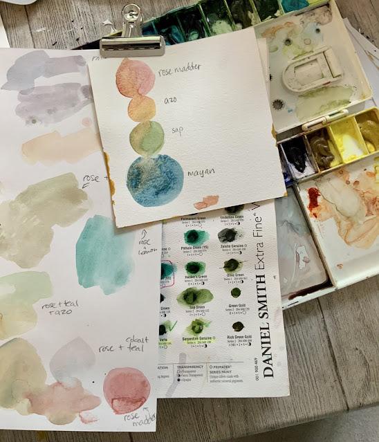 Daniel Smith watercolour palette