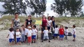 Desafio do Lixo prosseguiu no Viaréggio em Ilha Comprida