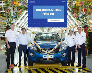 Tata Motors rolls out the 100,000th Nexon
