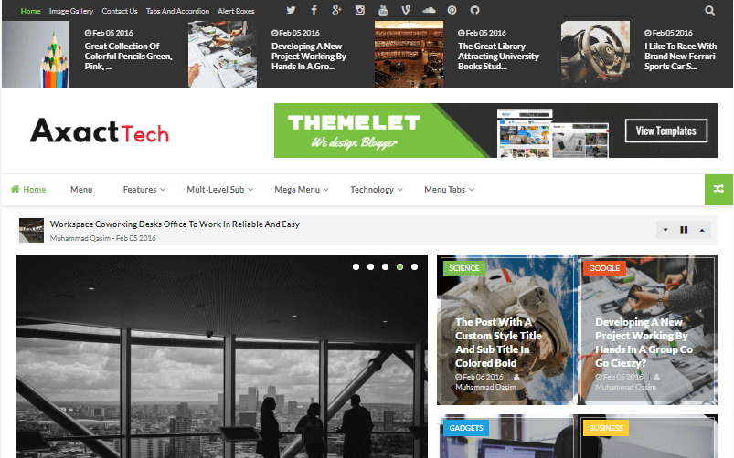 Axact Blogger Template Free Download