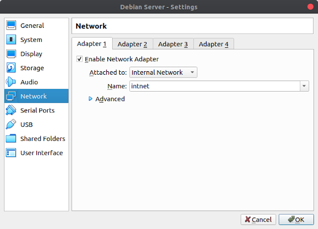 Internal Network VirtualBox