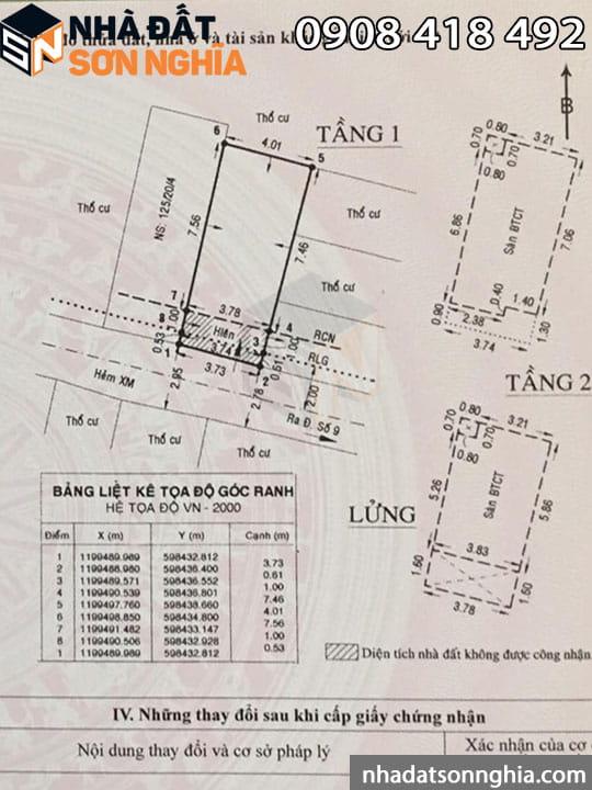 Bản vẽ sơ đồ nhà