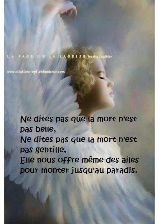 La Page De La Sagesse Citation Sur Les Anges Et La Mort