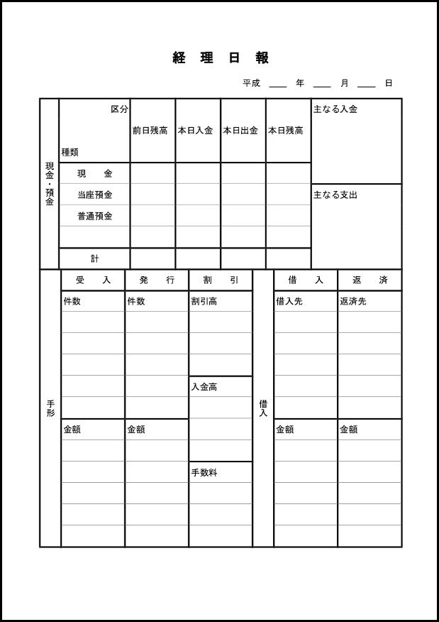 経理日報 001
