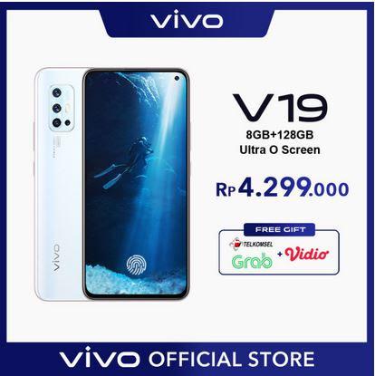 Vivo V19 - 8 / 128 GB ULTRA O SCREEN, Super Night Selfie, Fast Charging