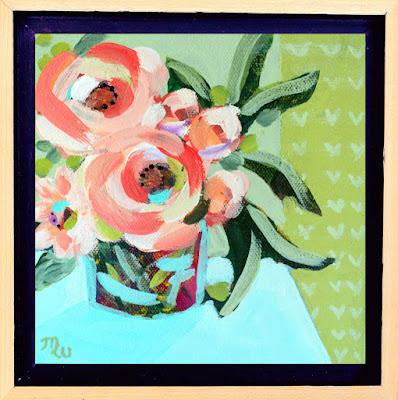 Flower painting by artist Merrill Weber