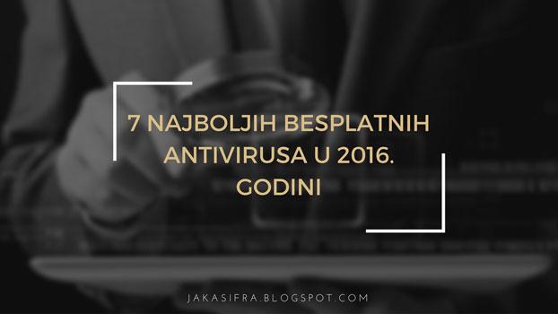 Najbolji besplatni antivirusi za 2016. godinu