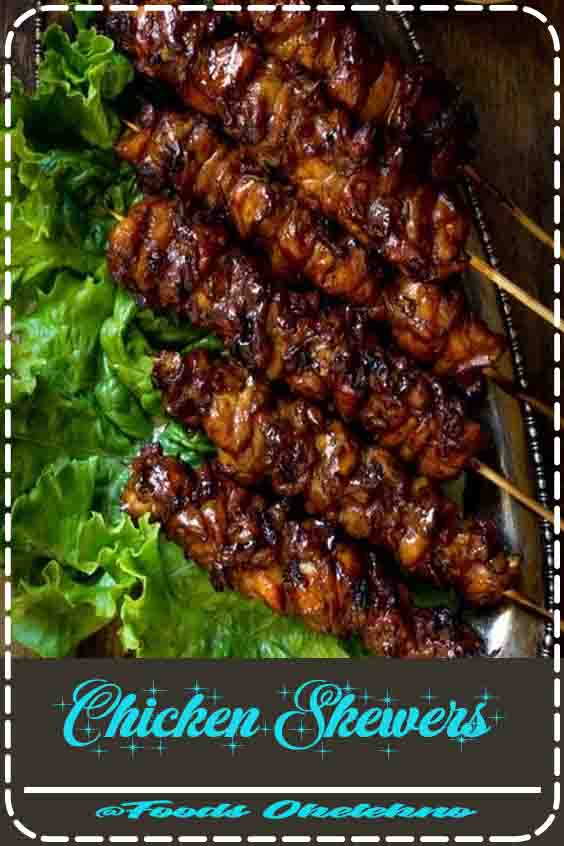 4.8 ★★★★★ |Smoky grilled chicken skewers marinated in ginger, garlic, coconut cream and soy sauce. Then finished with a sweet coconut cream glaze and served with a simple peanut sauce. Big on flavor, super easy to throw together! #Chicken Skewers #Simple #Asian #Chicken #Recipes
