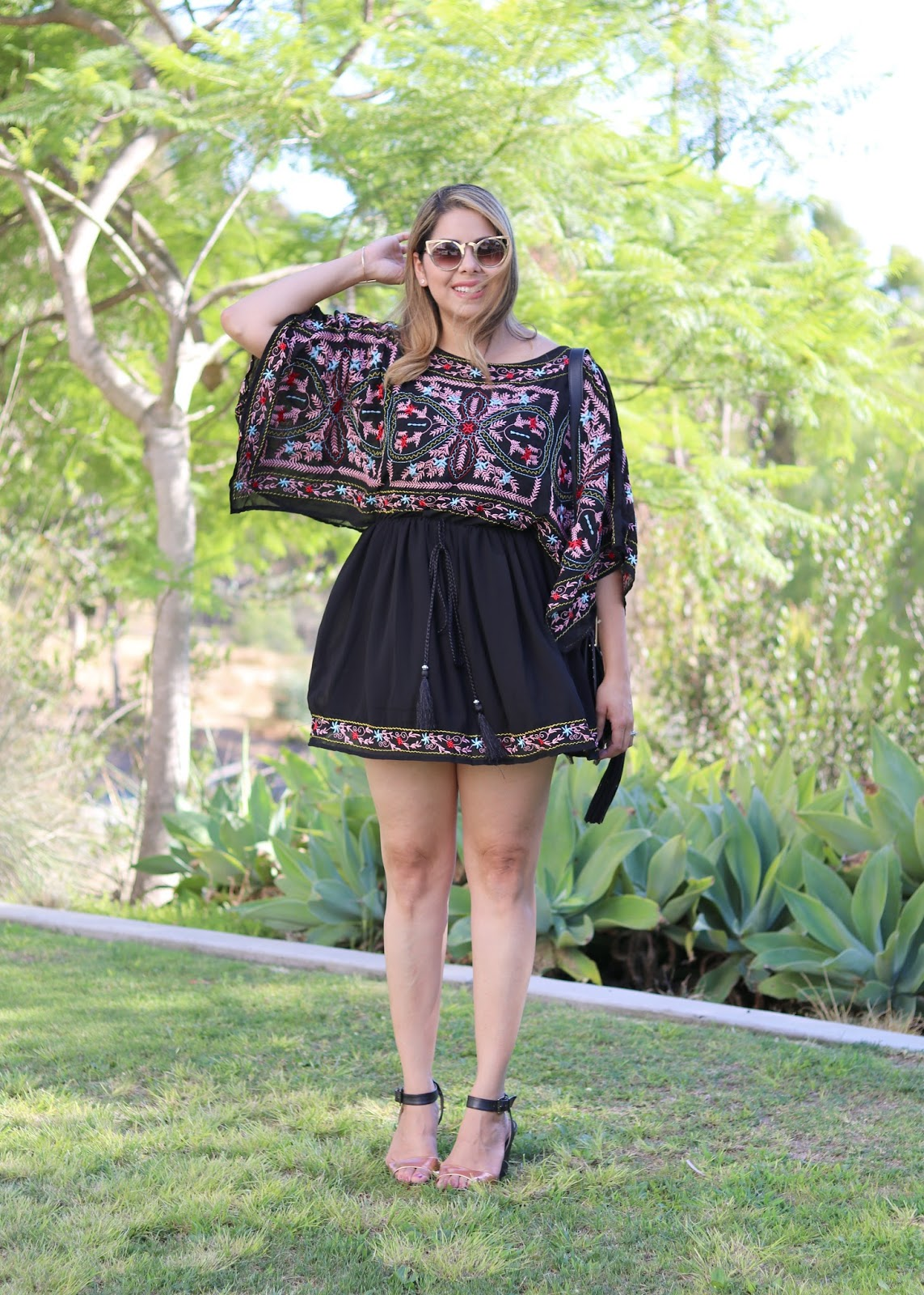 chicwish embroidered dress, mexican inspired dress, san diego fashion blogger, mexican vacation style