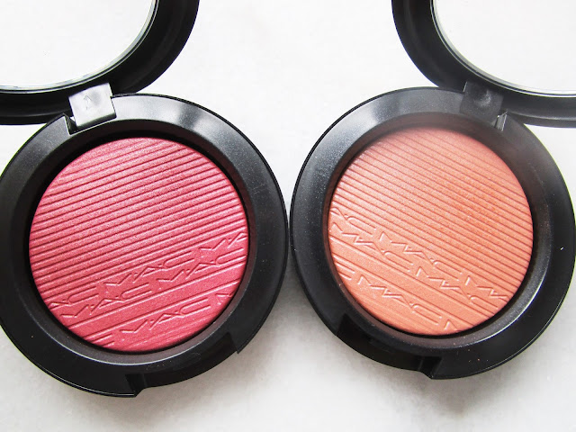 nuevos Extra Dimension Blush de MAC Cosmetics 2017 Fairly Precious y Sweets for my sweet