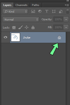Mengunci gambar photoshop agar tidak dapat di edit