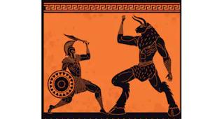 Le mythe du Minotaure et le combat de Thésée