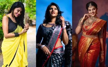 Zee Tamil Mahalakshmi Serial Actress Nivisha Hot Saree Photos