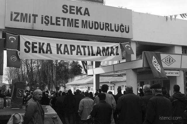 İzmit'te bulunan Seka Kağıt Fabrikasının özelleştirilmesine karşı direnildi. Eylemler yapıldı.