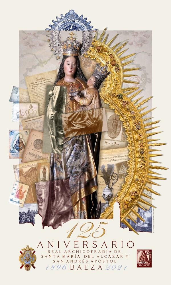 Cartel y logo para los 125 años de la cofradía patronal de Baeza