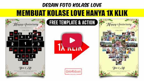 Template Action Foto Kolase LOVE