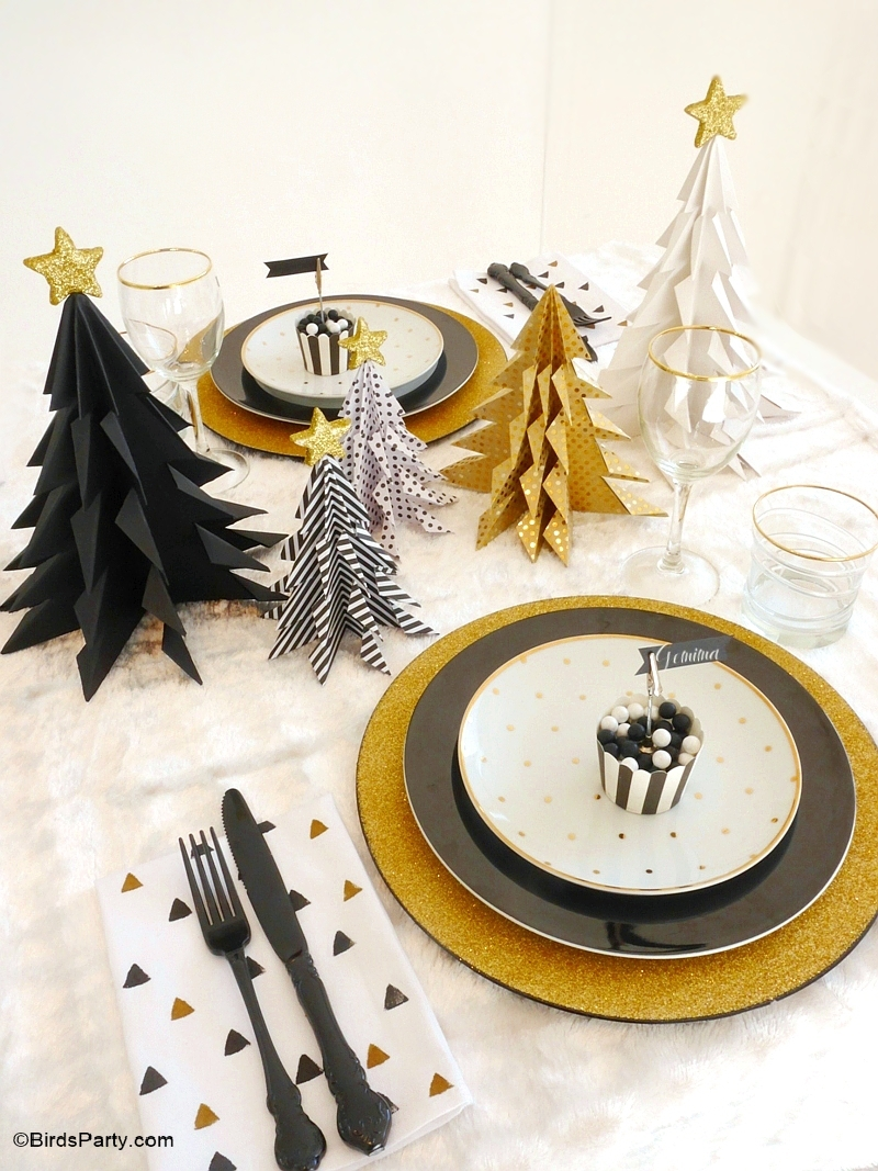 My Black Gold Christmas Party Tablescape Party Ideas Party