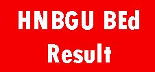 HNBGU B.Ed. Result