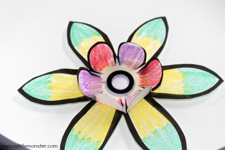 blooming paper flower craft