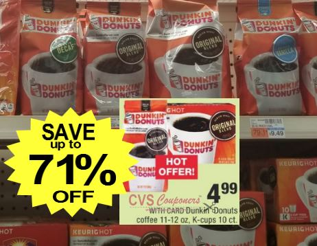 Dunkin Donuts Coffee CVS Deal 12-8-12-14