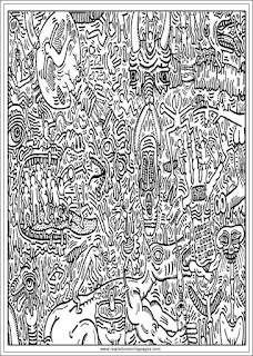 printable keith haring arts adults coloring pages