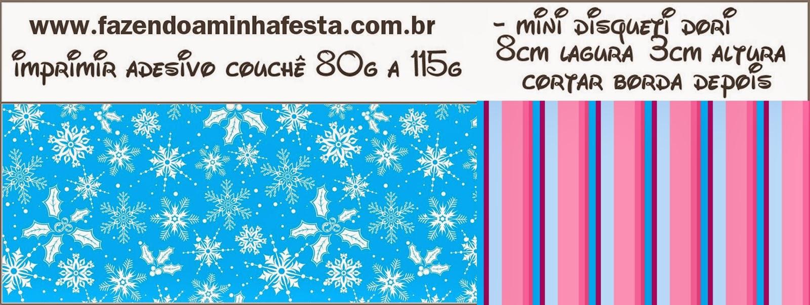 Etiquetas de Frozen en Morado y Celeste para Navidad para imprimir gratis.