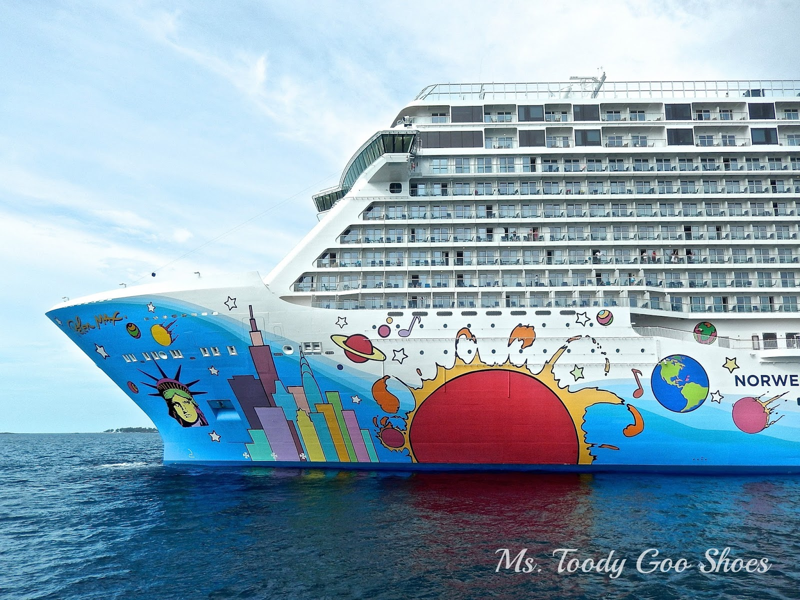 Norwegian Breakaway Cruise Ship  --- Ms. Toody Goo Shoes