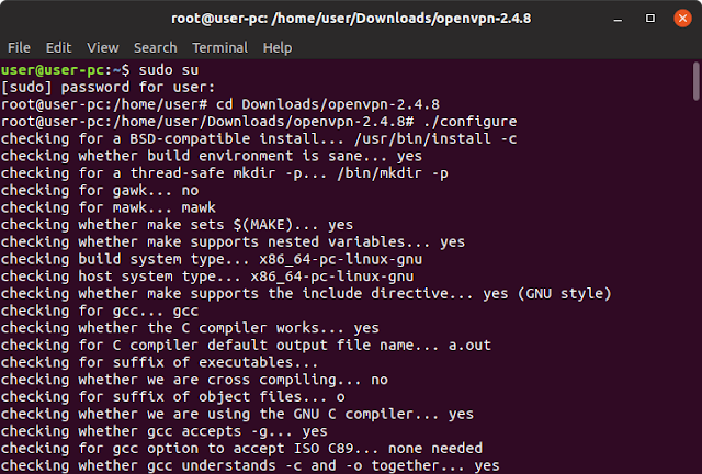 open vpn install linux