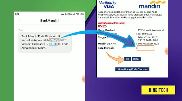 Cara Mengisi Saldo OVO GRAB dengan Kartu Debit Visa Mandiri
