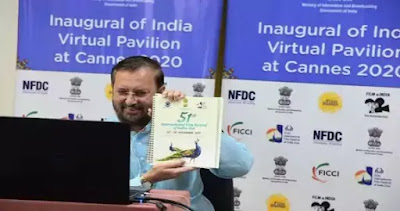 Minister Prakash Javadekar inaugurates Virtual India Pavilion at Cannes Film Market 2020 Key Highlights