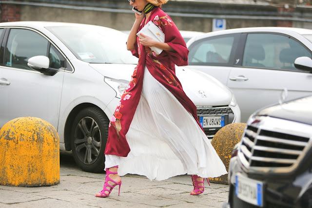 streetstyle milano fashion week -vestiti sottoveste