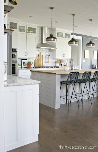 How to add width to kitchen island