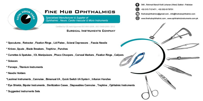 Ophthalmology Instruments   Surgical Instruments Company Sialkot