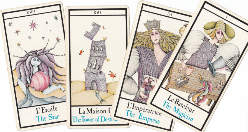 Quelques cartes du tarot de Marseille version Maddonni