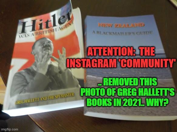 """""""Community"""" of Instagram Censors Photo of Hallett's Books"""