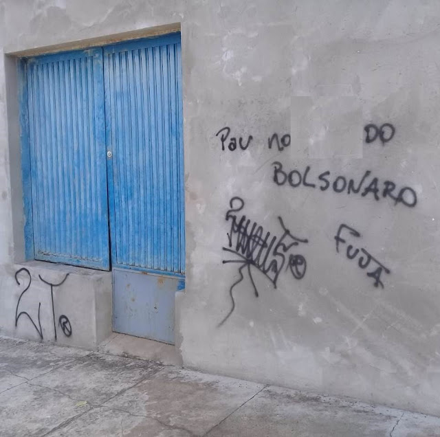 Florida Paulista Polícia Militar flagra indivíduo pichando muro da casa do padre