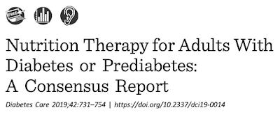 2019 ADA中文-成人糖尿病/糖尿病前期營養治療-共識建議