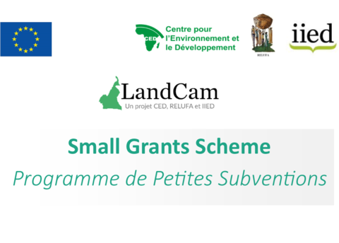 LandCam Call for proposals for the 2019-2020 small grants