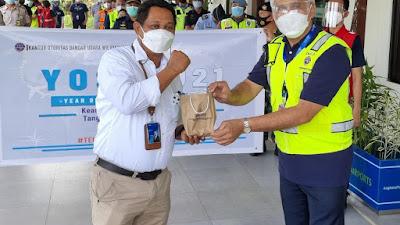 Otband Wilayah VIII Gelar Kampanye Budaya Keamanan Penerbangan Tahun 2021 di Bandara Samrat