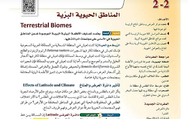 درس المناطق الحيوية البرية علم البيئة
