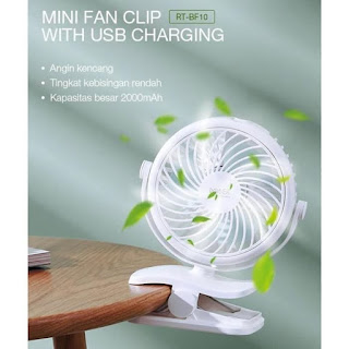 Kipas Angin Listrik Elektrik VIVAN ROBOT RT-BF10 Mini USB FAN Clip-On