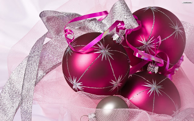 Pink Christmas Ornaments Wallpapers 2016
