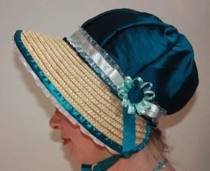 diy regency poke bonnet straw hat tutorial hat